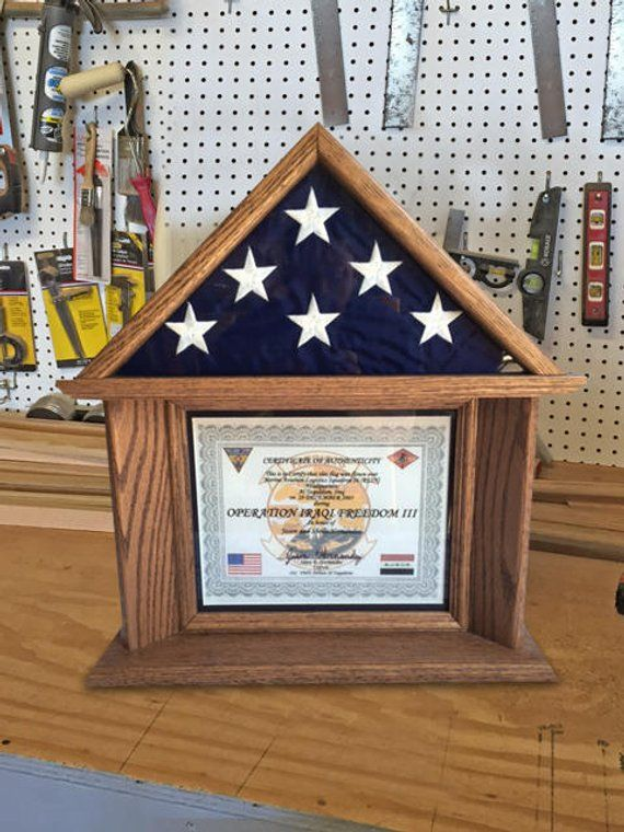 3x5 Flag And Certificate Display Case In 2020 Flag Display Case Flag Display Display Case