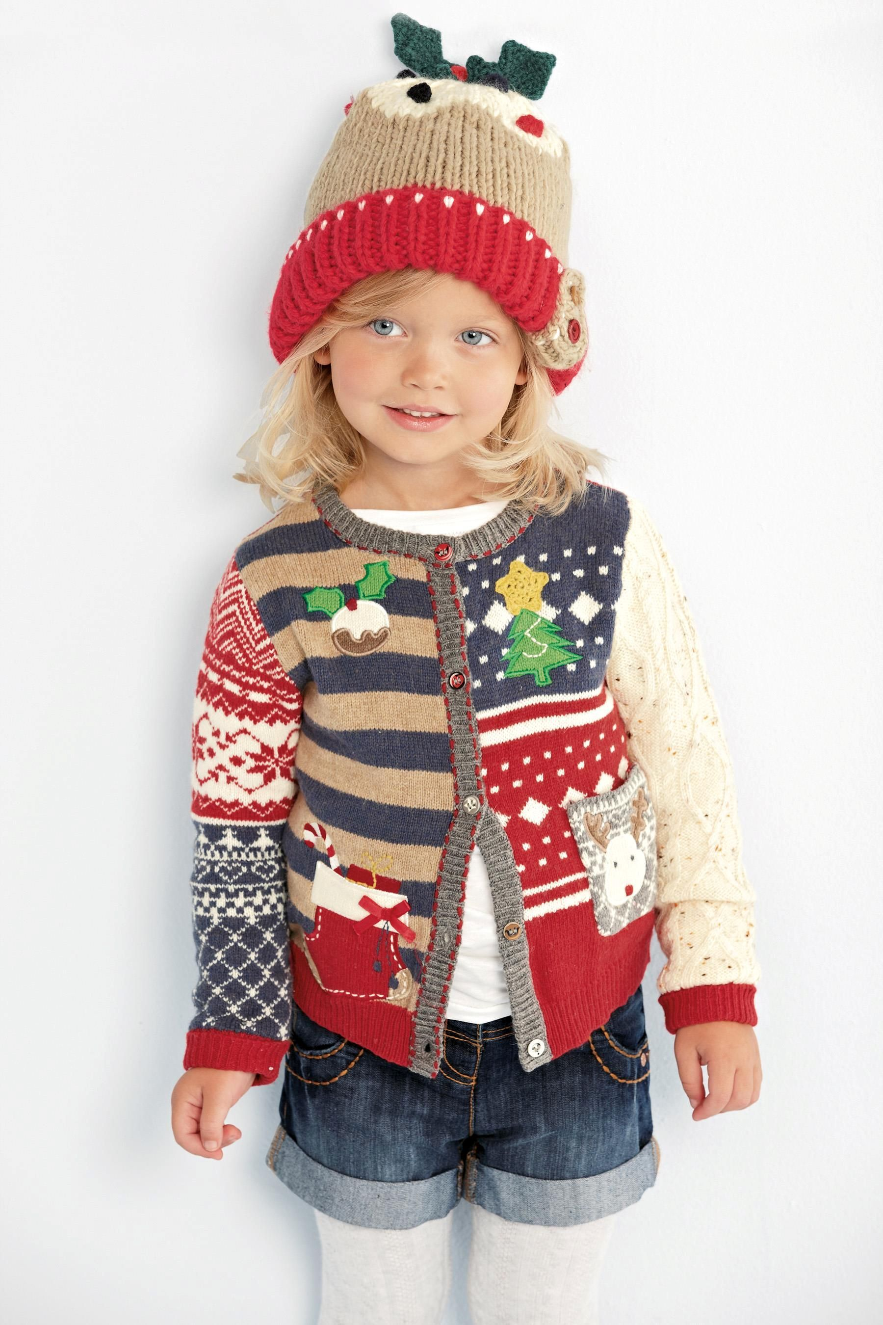Buy Patched Christmas Cardigan (3mths6yrs) from the Next
