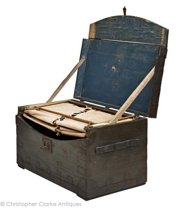 J.T. Thompson Campaign Trunk Bed. This Type Of Bed, Folding Out Of A Trunk