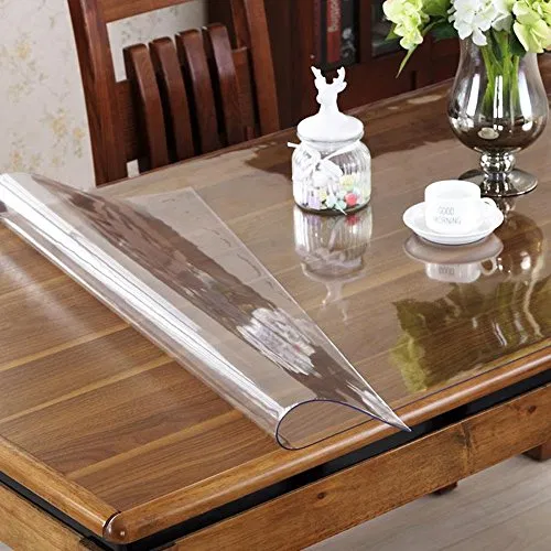 Ostepdecor Custom 1 5mm Thick Crystal Clear Table Top Protector Plastic Tablecloth Kitchen Dining R Wood Dining Room Wooden Dining Room Table Dining Room Table