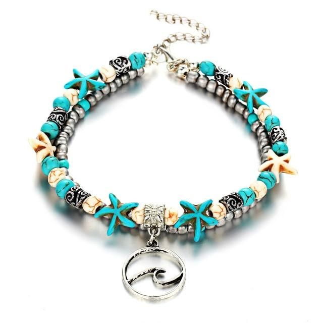 Fashion Double Layer Anklet for Fashionistas. Gift for Best Friend, Wife, Mom, Aunties, Daughters. Anklet Jewelry with Animal Pendants   8 Gallery