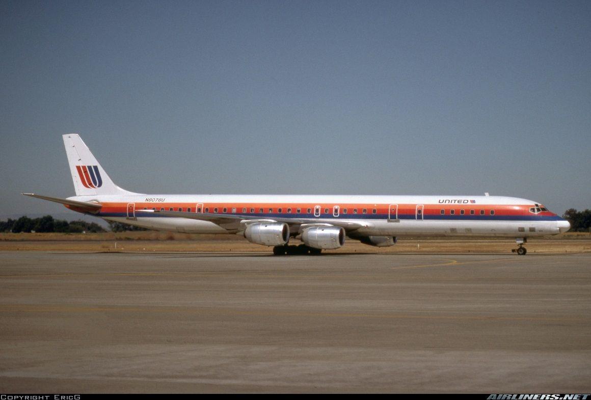 United Airlines DC871 Vintage aircraft, Douglas dc 8