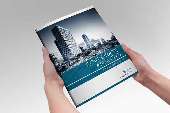Annual Report InDesign Template By Creative Template On - Indesign template brochure