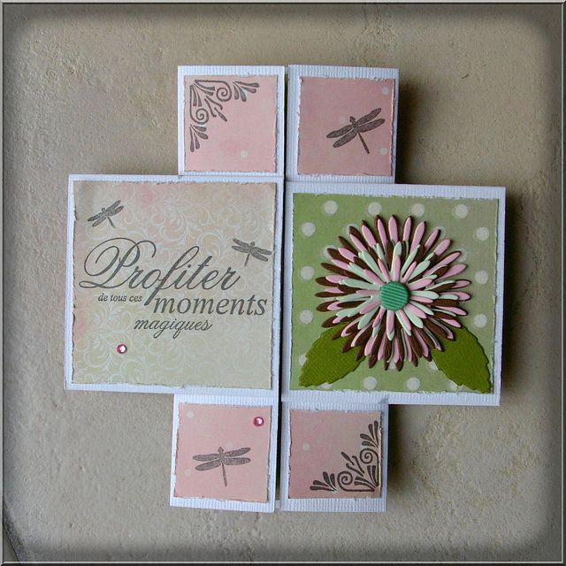 Une Carte Sans Fin Chris Scrap Never Ending Card Fancy Fold Cards Infinity Card