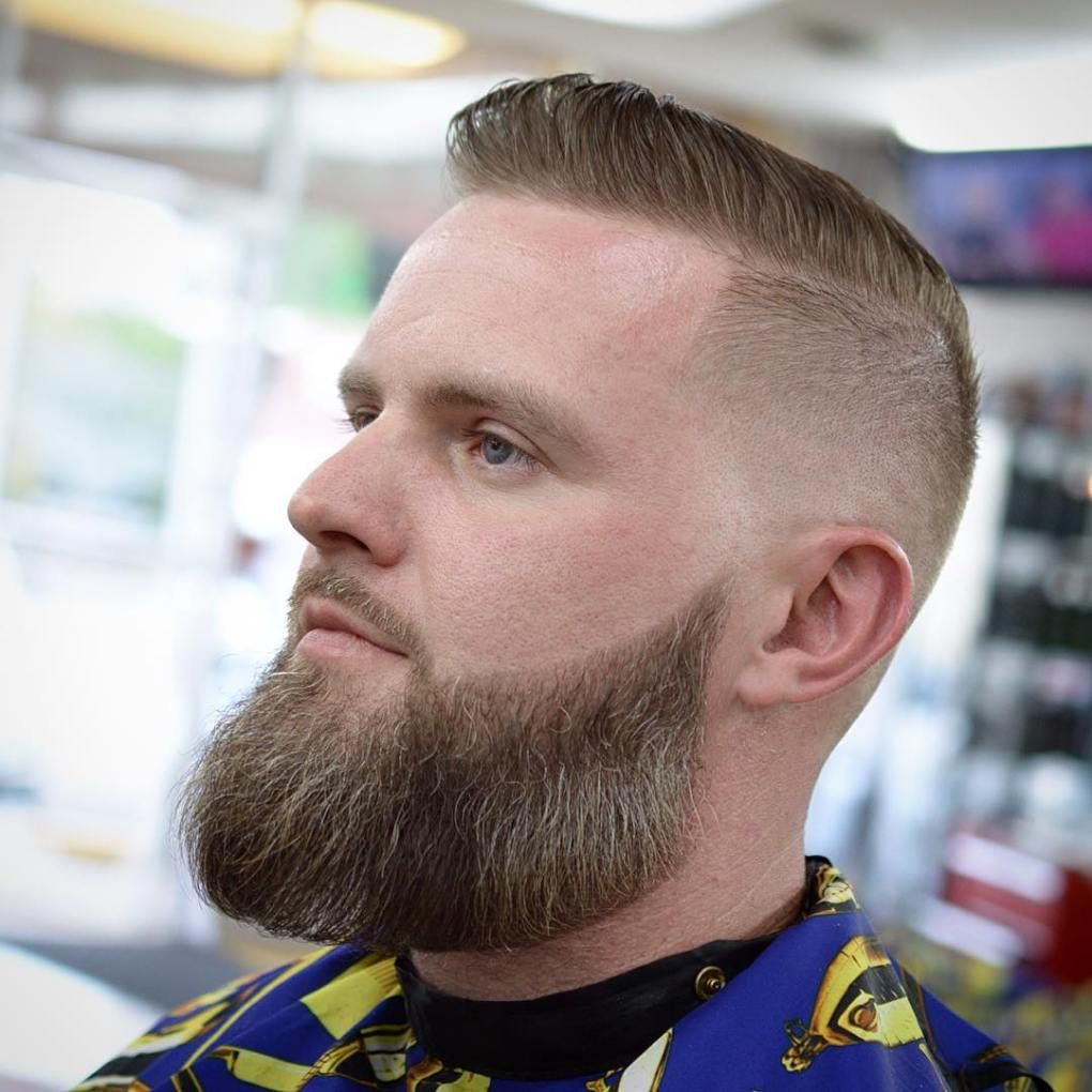 High Fade With Beard Men S Undercut For Thin Hair Thin Hair Men Balding Mens Hairstyles Long Beard Styles