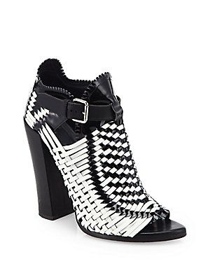 Proenza Schouler Leather Woven Booties visit online best prices cheap price shipping discount authentic sale genuine free shipping discount 8qePN2rdu