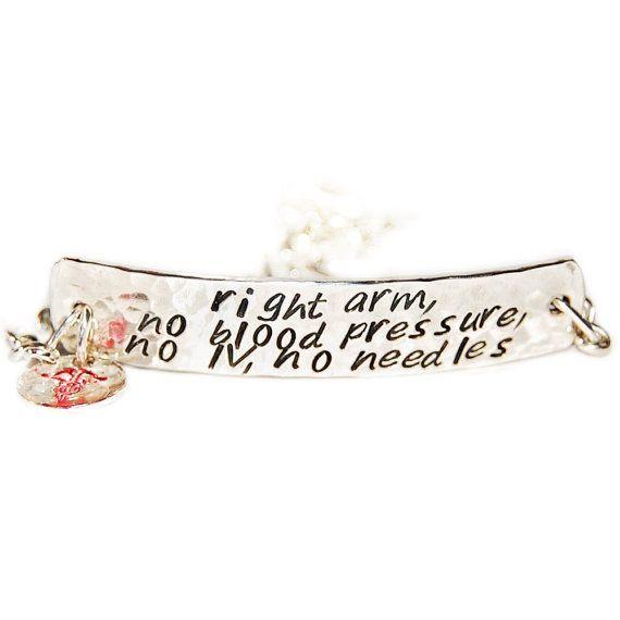 Sterling Silver Medical Bracelet Health Identification