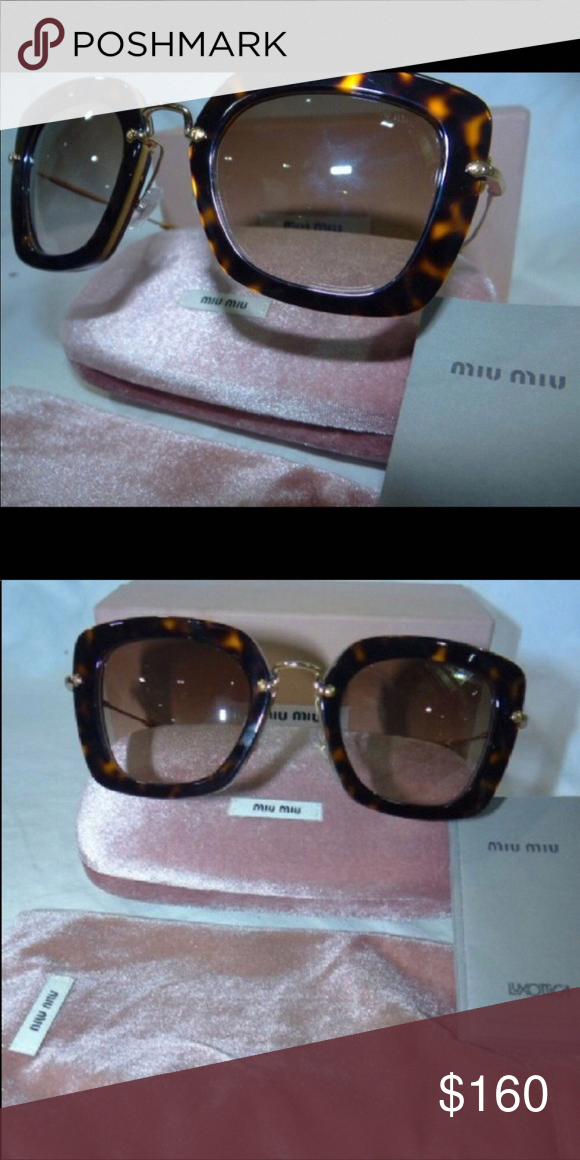 a2e5048a677d MIU MIU Women s Havana Gold Brown Sunglasses MIU MIU Women s Sunglasses.  Excellent condition