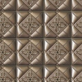 Textures Texture seamless Leather interior 3D wall panel texture