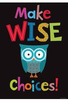 Make Wise Choices! Motivational Owl Poster