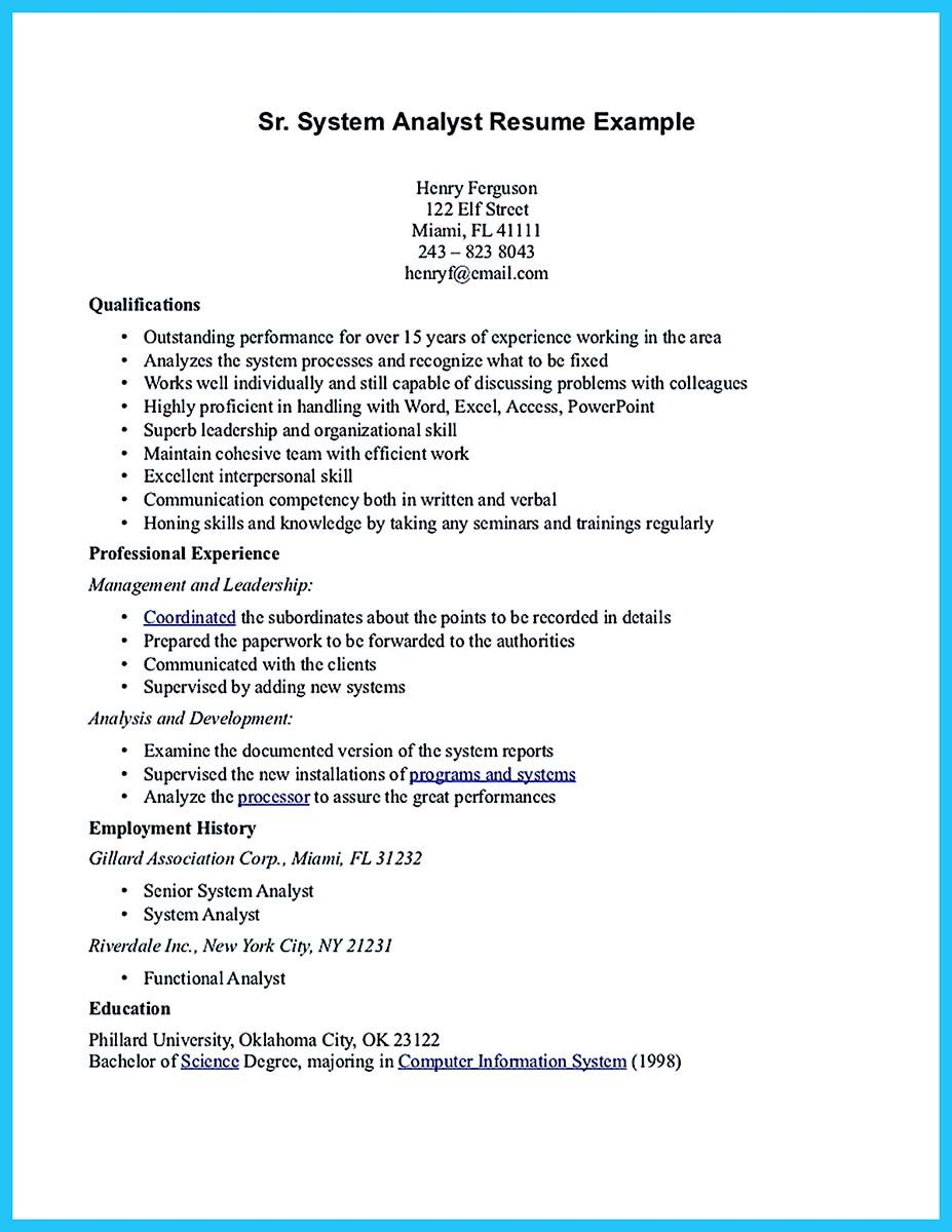 resume business and jobs in