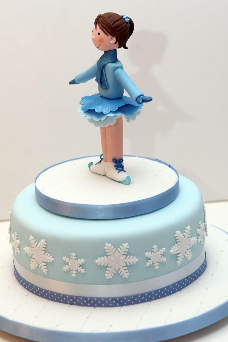 An Ice Skater Cake Topper I Made For My Sweet Little Neighbour I