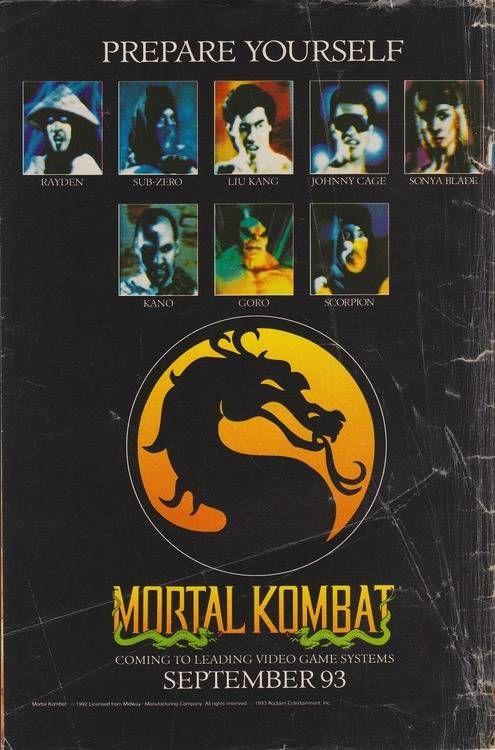 mortal kombat retro games poster