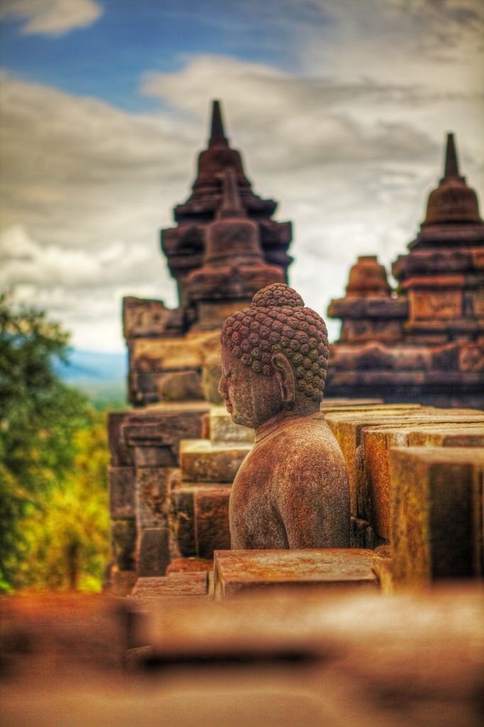 Buddha in Java, Indonesia.