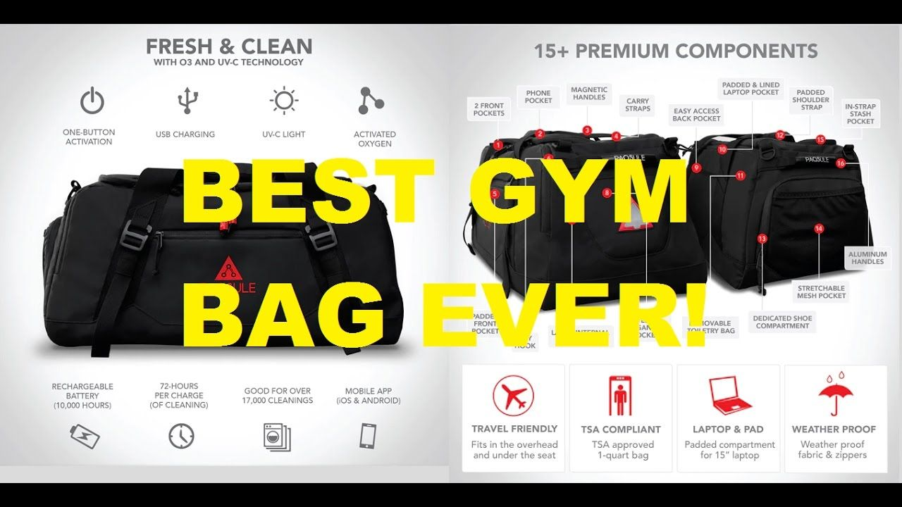 7a9c0fbd1820 Self Cleaning Gym Bag by Paqsule. Cleans gym clothes