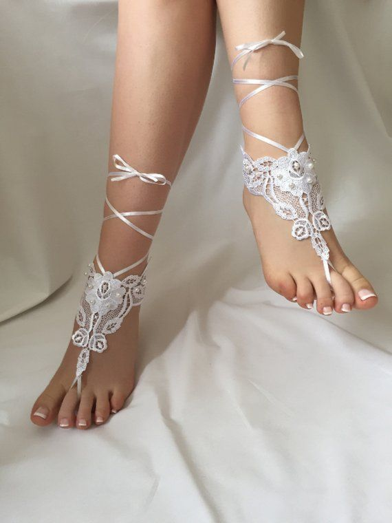 16750516bccb4 Lace Barefoot Sandals