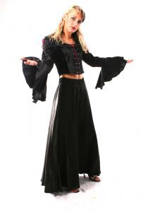 Gothic Long Satin Skirt. Gothic Full Length Satin Skirt. 3 Colours available. Bares/FashionX~79-1062