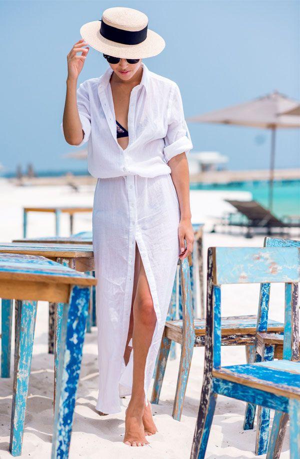 look beachwear camisa saia longa Moda Praia Verão f47f5c443d9