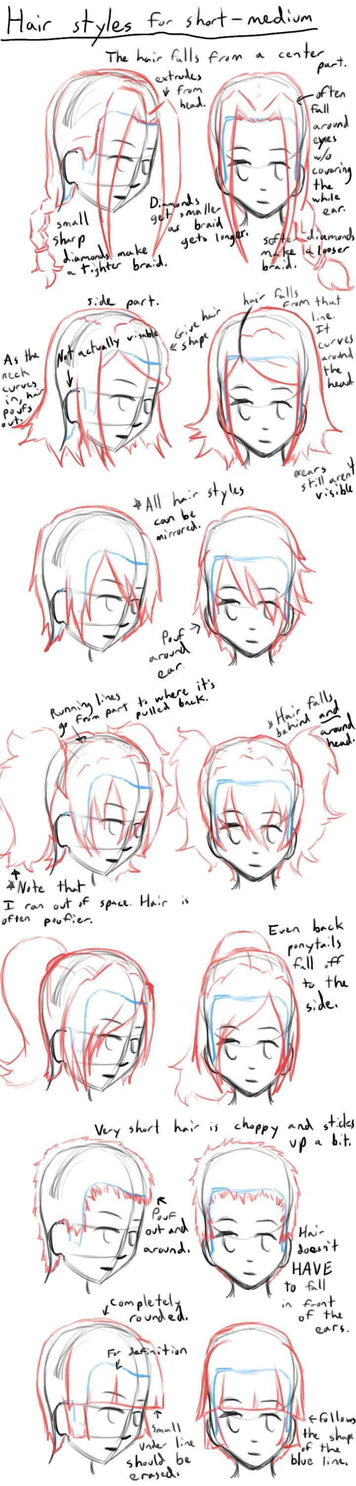 How To Draw Anime Hair Styles By Learntodrawanime On Deviantart Drawing Hair Tutorial Anime Drawings How To Draw Hair