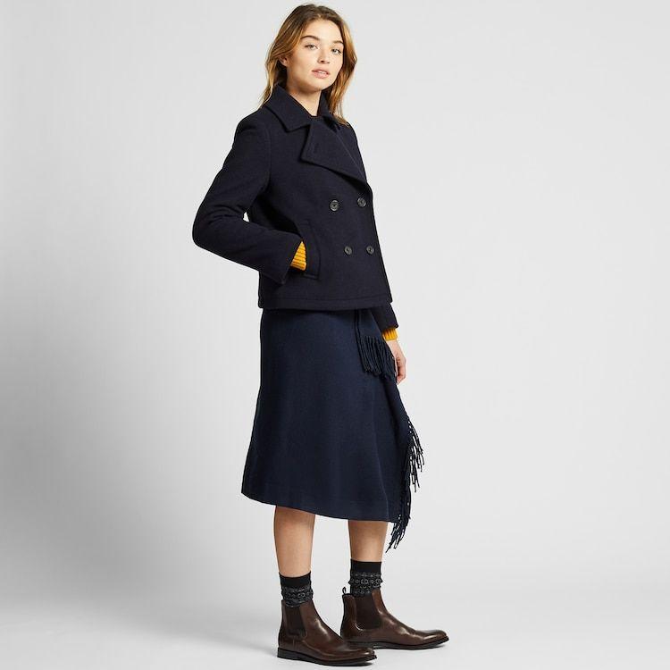 Style Arc Beatrice Pea Coat: JW ANDERSON SHORT PEA COAT