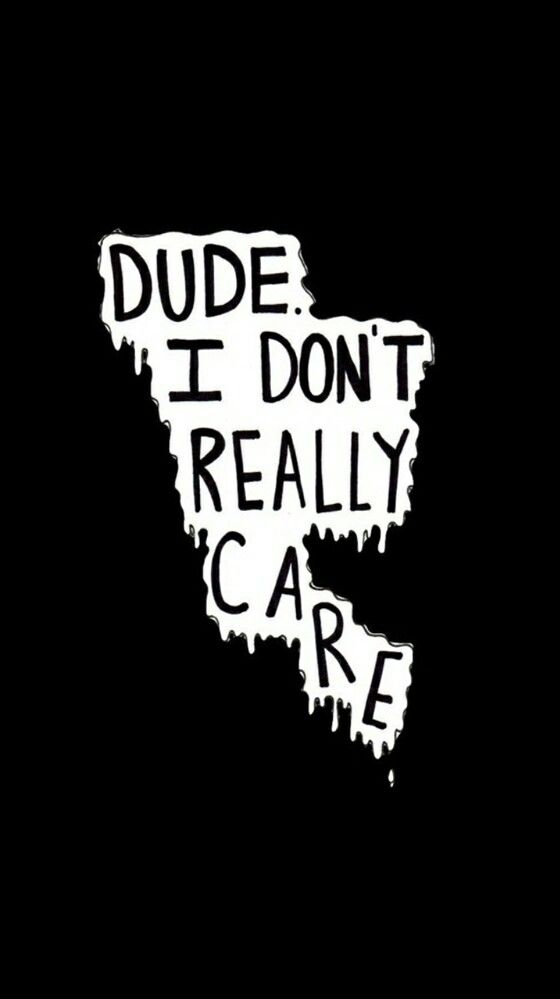 I Really Dont Care Cute And Crazy Iphone Wallpaper Wallpaper