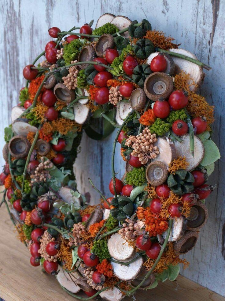 Photo of #autum #autumn #Fall #Herfskrans #rood #wreath – Conservatory ideas