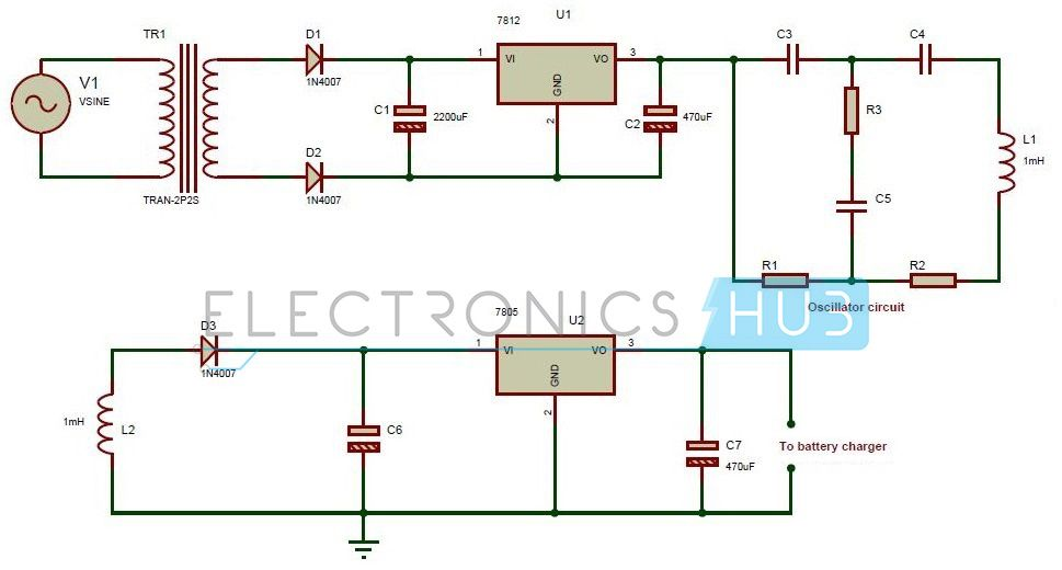 wireless power transfer circuit circuit diagram charger and mobiles wireless power transfer circuit