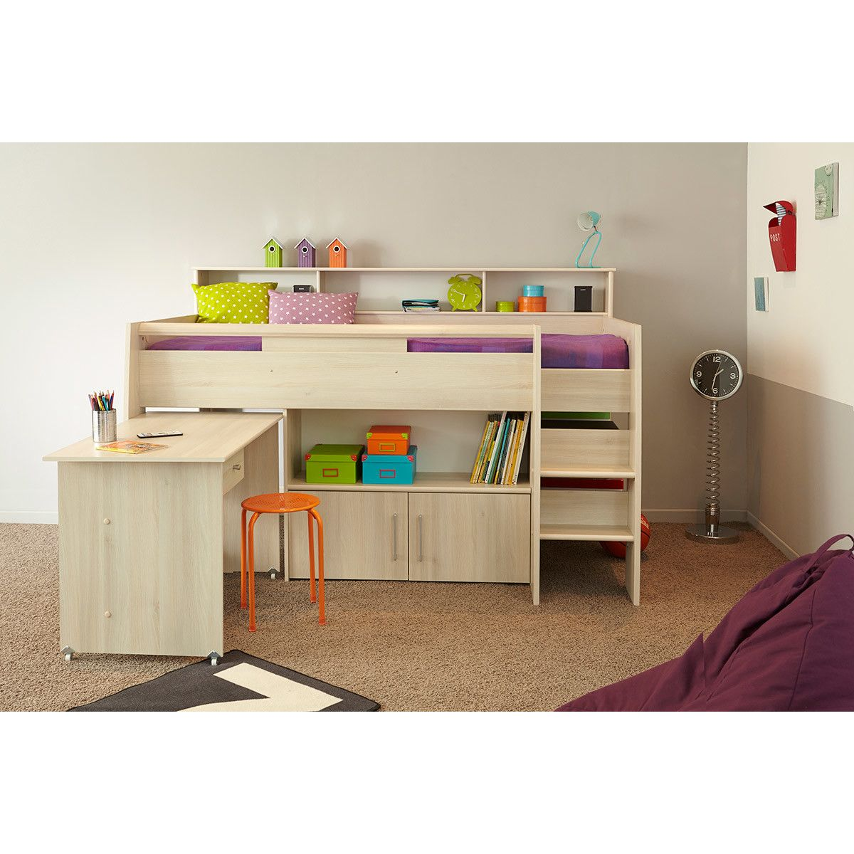 Hurt Midsleeper Twin Mate Bed Cabin Bed With Desk Mid Sleeper