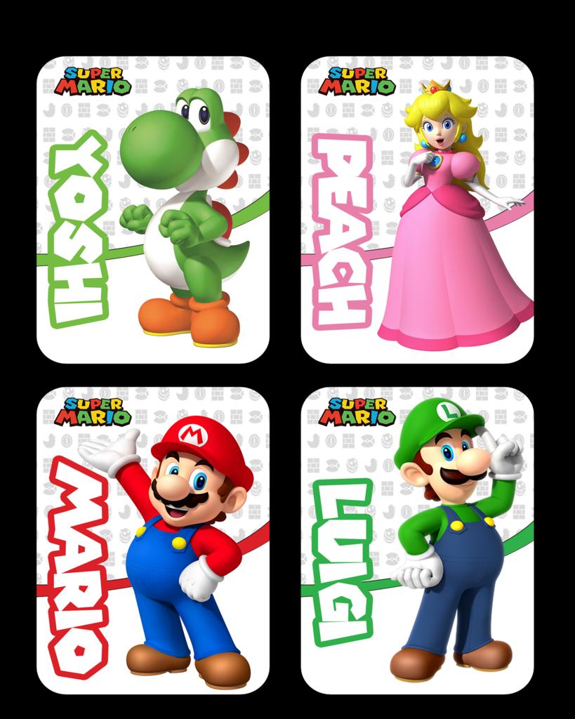 196d9a042 Mario rabbids kingdom battle Themed Amiibo Cards - Singles or full set of 4