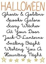 Halloween Poem embroidery design   Holiday Embroidery   Pinterest ...