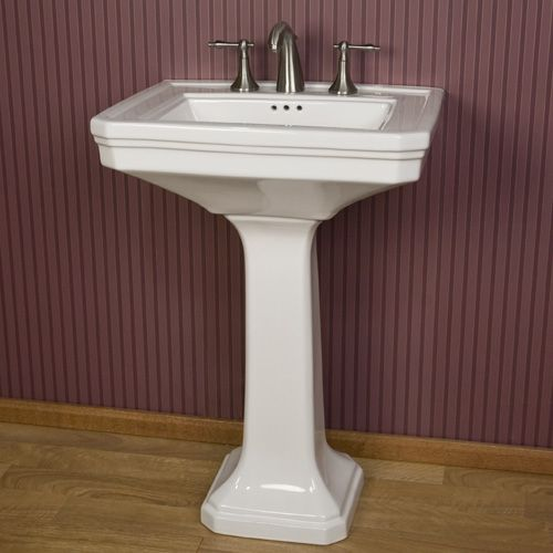 Kacy Pedestal Sink With 8 Centers 229 24 Inches Powder