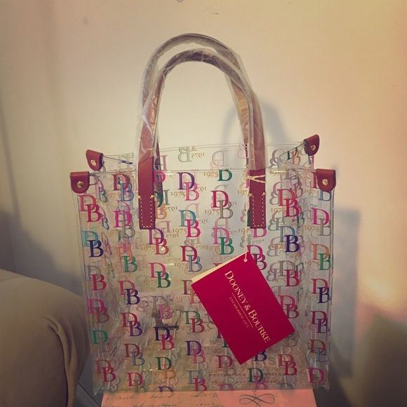 Dooney Bourke Lunch Bag This Is A Brand New W Tags Super Cute Clear Plastic With Multi Color Db Logo