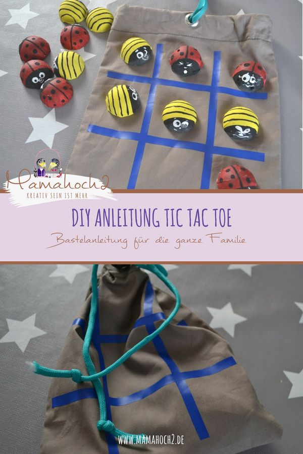 Photo of Handicrafts with children – Ladybird Tic Tac Toe ⋆ Mamahoch2