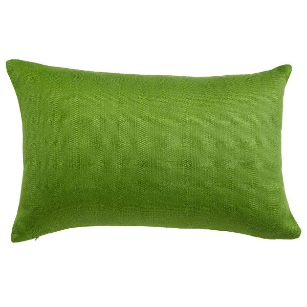 "Dimensions: 24""w x 16""h               Durable linen               Easy way to update a seat               Bold and vibrant color additionSimple and sophisticated, this pillow's vibrant hue transforms a sofa or chair into a brand new piece of furniture. The soft quality of the linen makes it a comfortable throw pillow while adding a subtle, natural texture.   If you'd like to purchase the cover and the fill, choose from our  fill options here. Each is a USA-made, nonallergenic ..."
