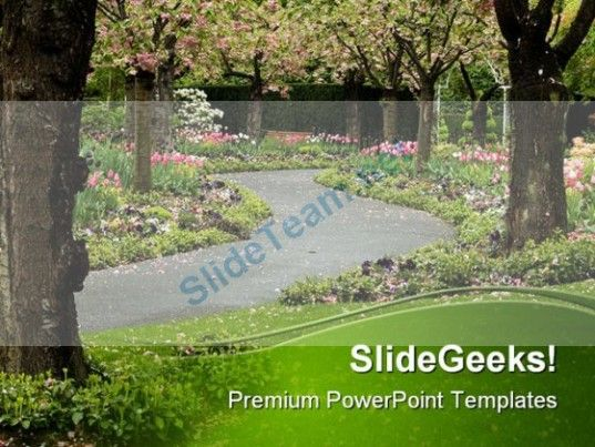 Blossom Path Nature PowerPoint Template 1010 #PowerPoint - nature powerpoint template
