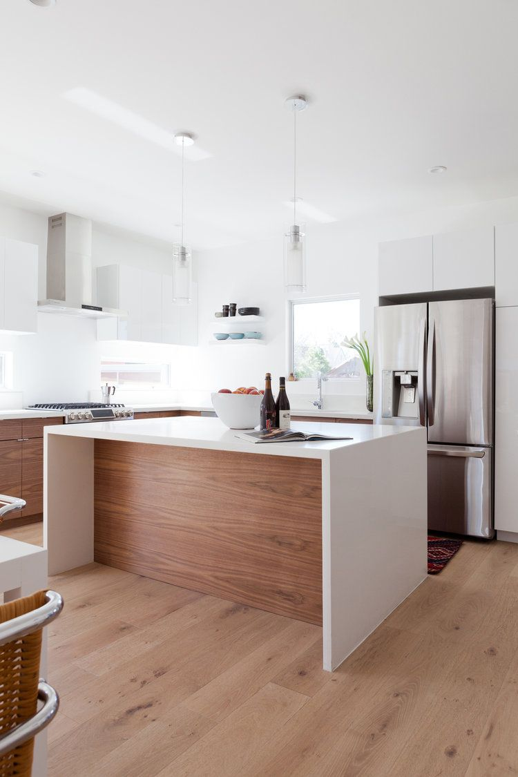 Dec 5 wood lowers + white uppers = beautiful timeless kitchen