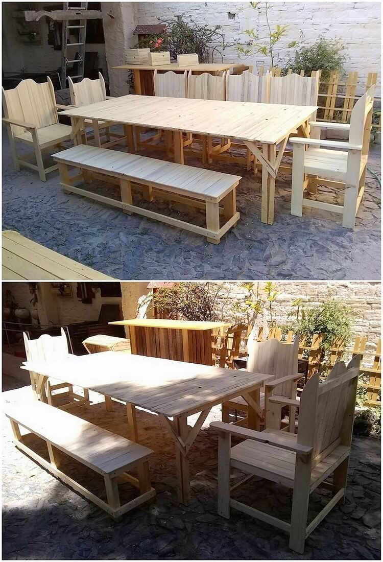 A Moderate Compact Size Of The Garden Outdoor Dining Furniture Design Idea  Has Been Given Out Here. You Will Be Finding It To Be Put Together In The  Form Of ...
