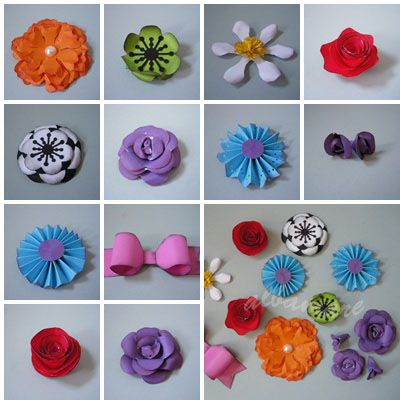 Flores para scrapbook Flowers for scrapbook Pinterest Flores