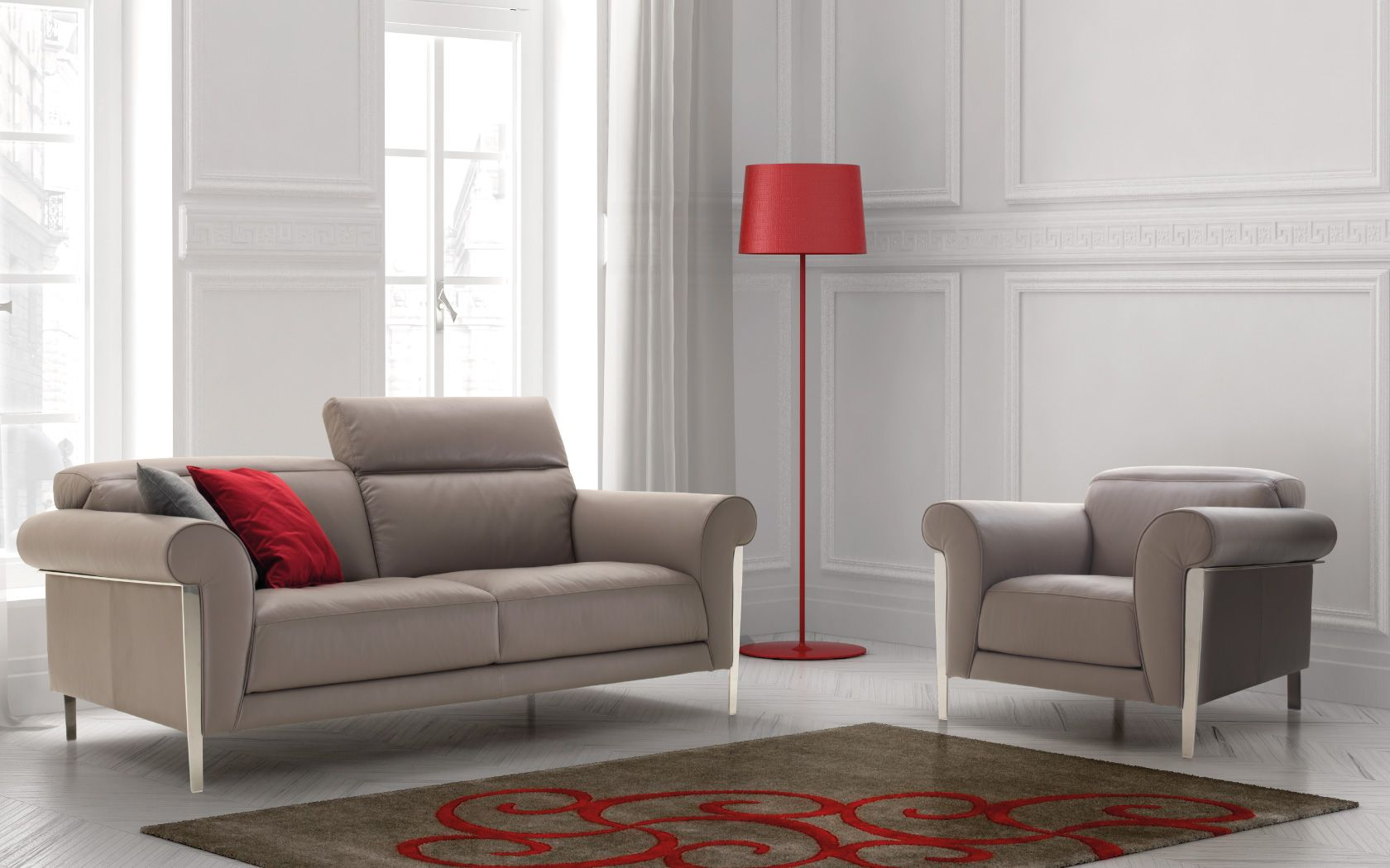 Sofa and chair set perfect for a formal living room