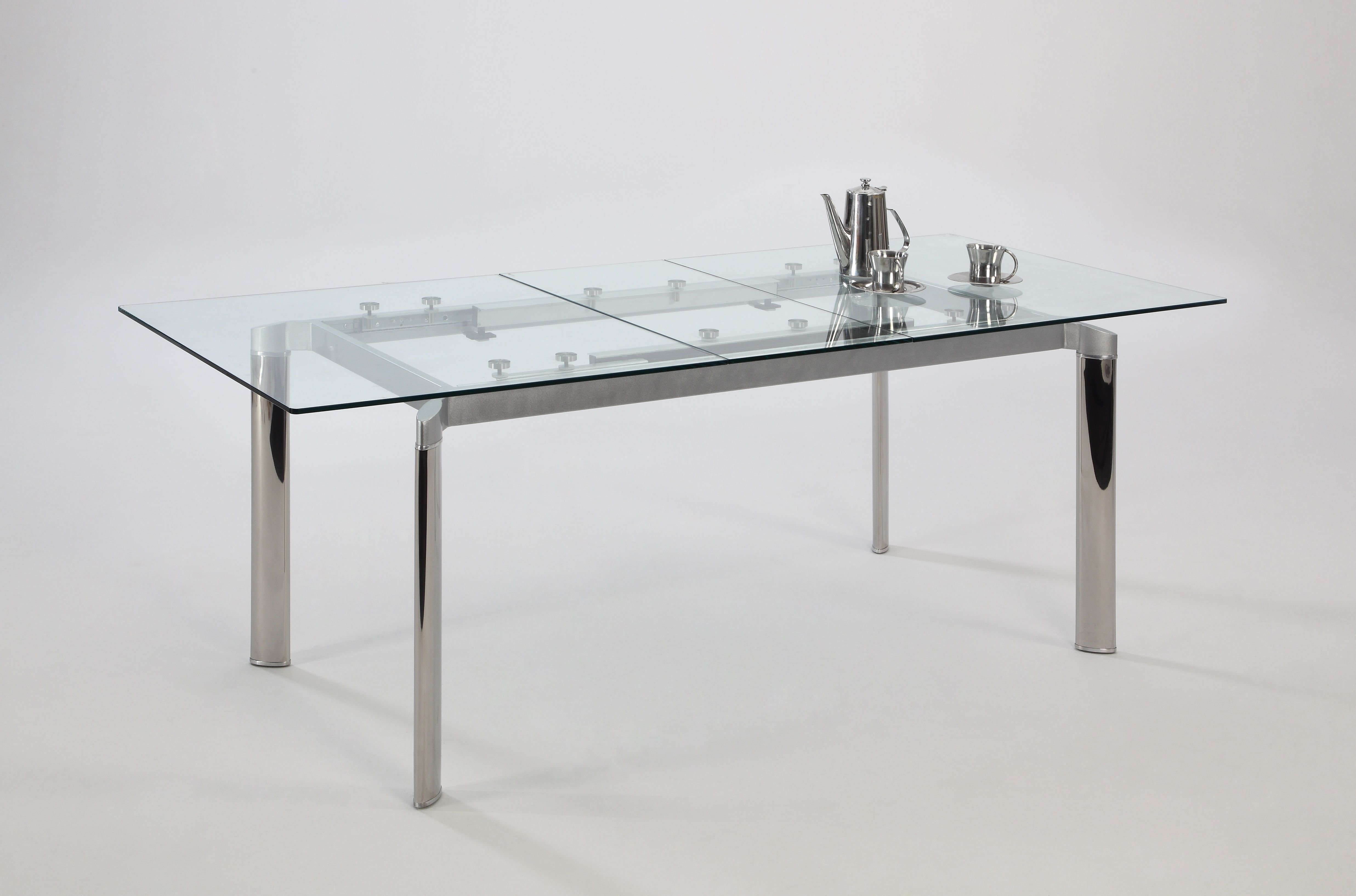 modern exclusive dining table luxurious design 1. Modern+Clear+Glass+and+Chrome+Extendable+Dining+Table+ Modern Exclusive Dining Table Luxurious Design 1