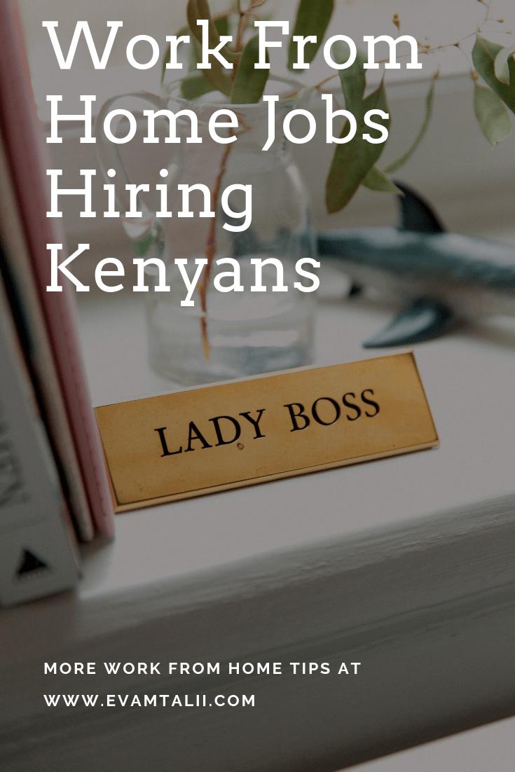 Legitimate Work At Home Jobs For People In Kenya Home Jobs Work