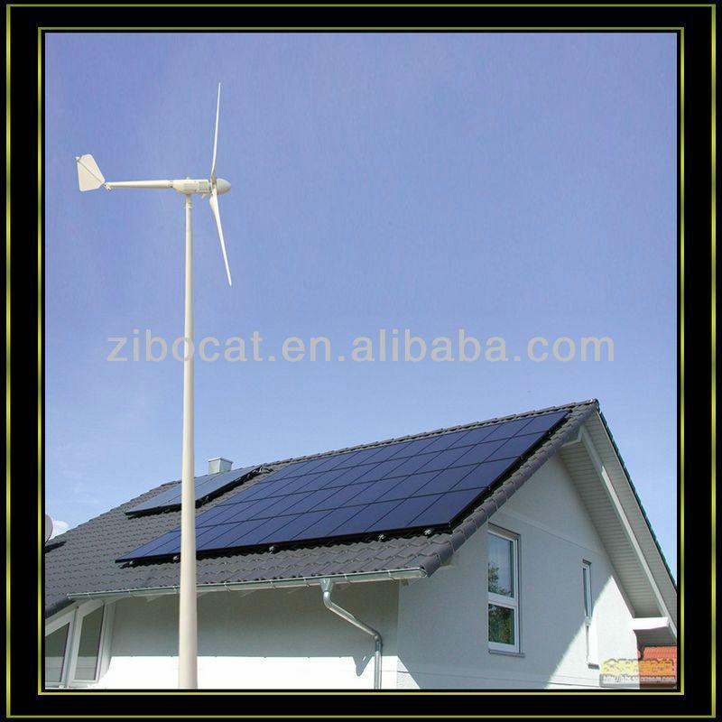 2kw Wind 600w Solar Hybrid System Home Use Hybrid Solar Wind Power Generation System Solar Wind Turbine Hybrid System Generator House Solar Power System Solar