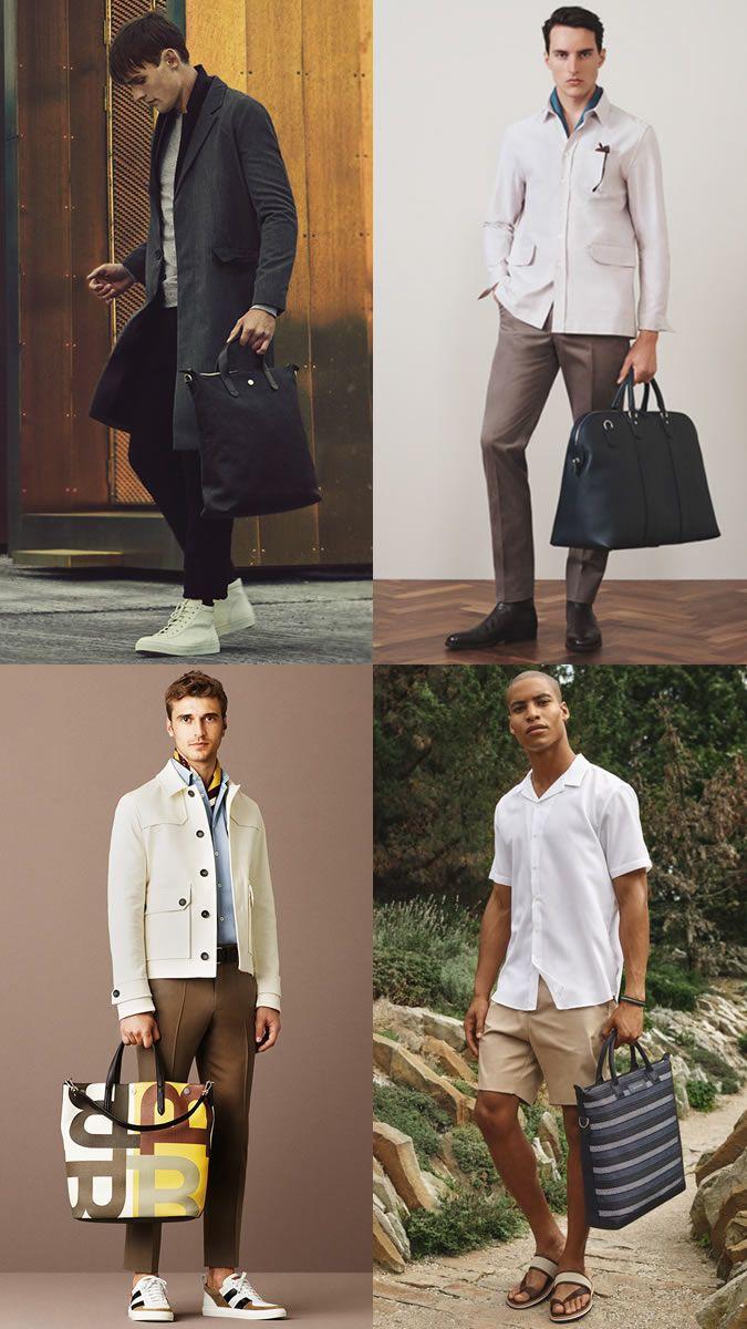 The Biggest Men's Bag Trends For 2017: Luxury Totes Lookbook Inspiration    Lookbook inspiration, Bag trends, Big men