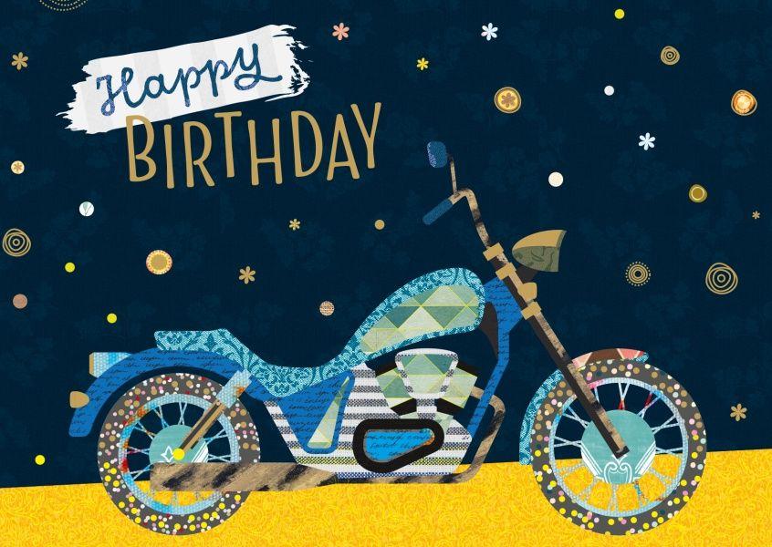 Анимация одуванчики, открытки к дню рождения брата с мотоциклом