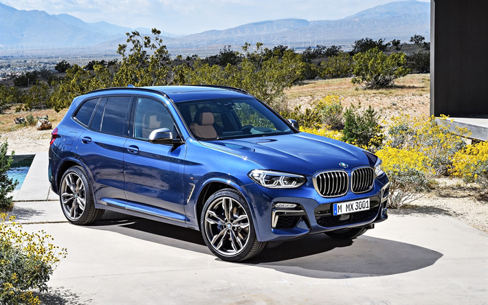 Download Wallpapers Bmw X3 M40i 2018 Blue X3 Crossover Tuning German Cars Bmw Besthqwallpapers Com Bmw Bmw X3 Bmw Suv