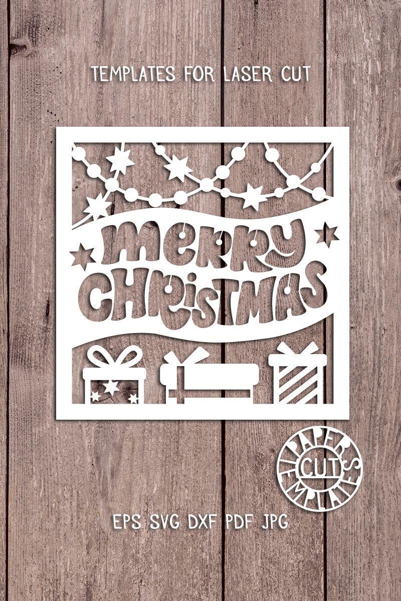 Christmas Cards Cricut Templates christmascard