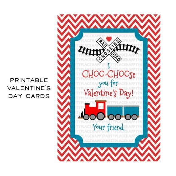 photo regarding I Choo Choo Choose You Printable Card identified as Instantaneous Down load Practice Valentines Working day Card, Teach Valentine