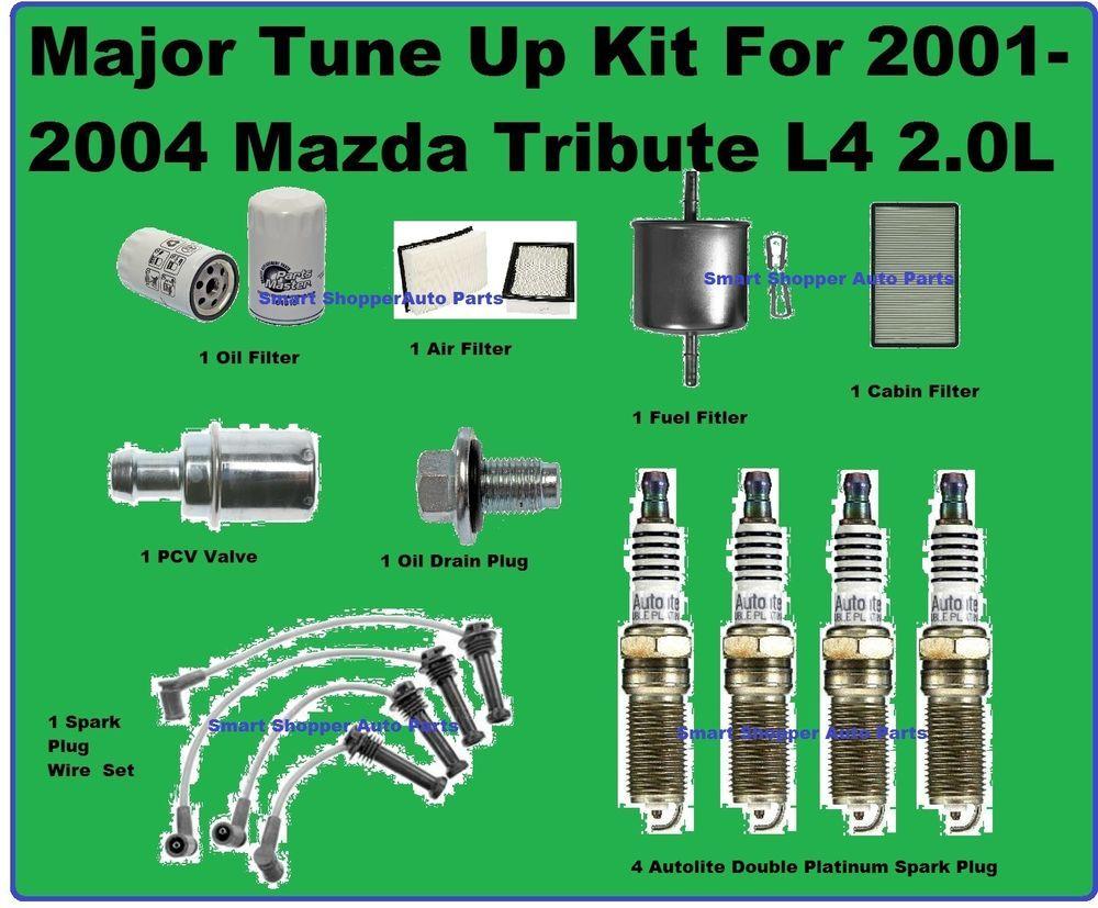 Major Tune Up 20012004 Mazda Tribute Spark Plug Wire Set