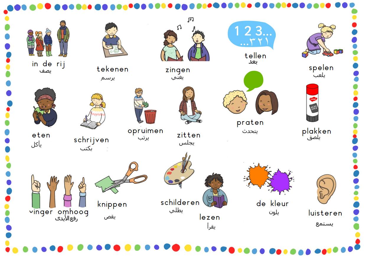 Nt2 school schoolwoorden nederlands arabisch vertaald door for Arabisch nederlands