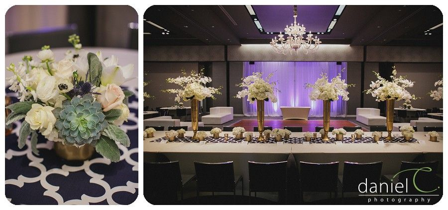 Navy Blue And Gold Wedding W Austin Hotel